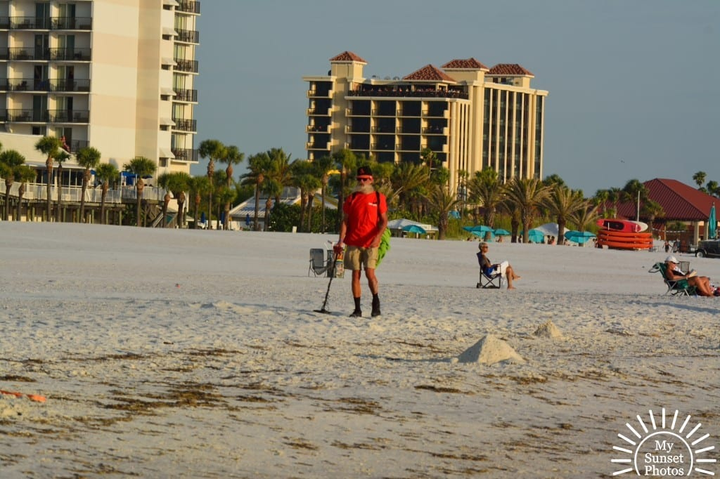 Treasure hunting at Clearwater Beach