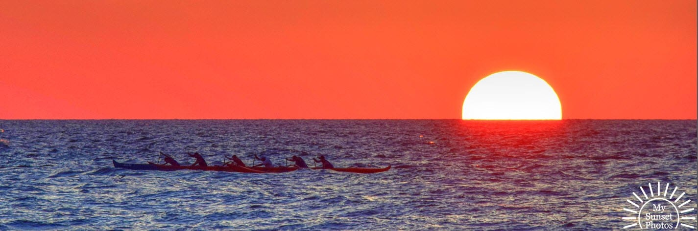 Rowers at Sunset at Clearwater Beach