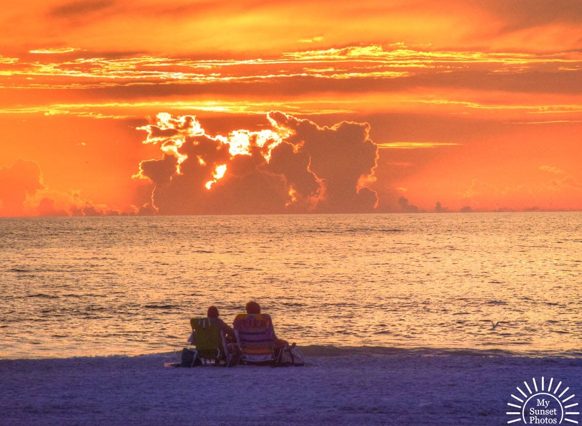 Cozy Couple at Sunset Last Night in Clearwater Beach