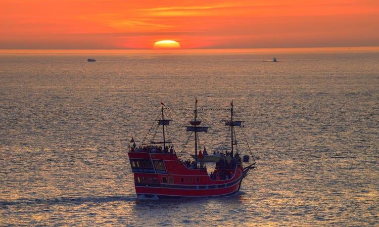 Pirate Ship In Clearwater Beach Fl