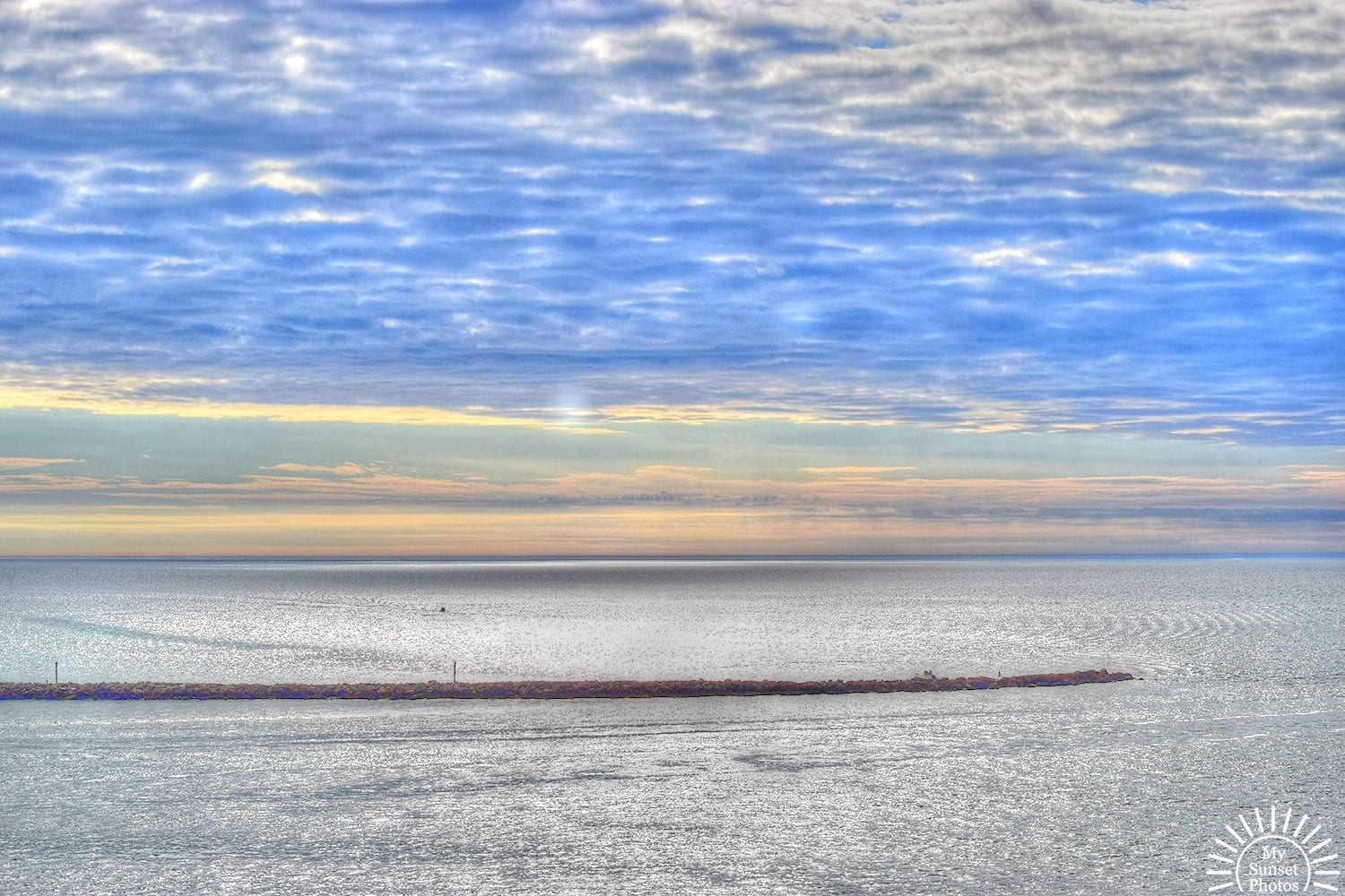 My Sunset photos - Afternoon Calm Clouds in Sand Key Florida